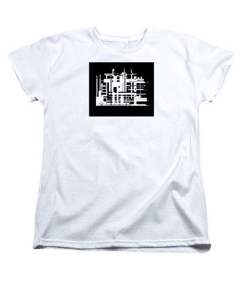 Women's T-Shirt (Standard Cut) featuring the painting Penman Original-325- The Visitor by Andrew Penman
