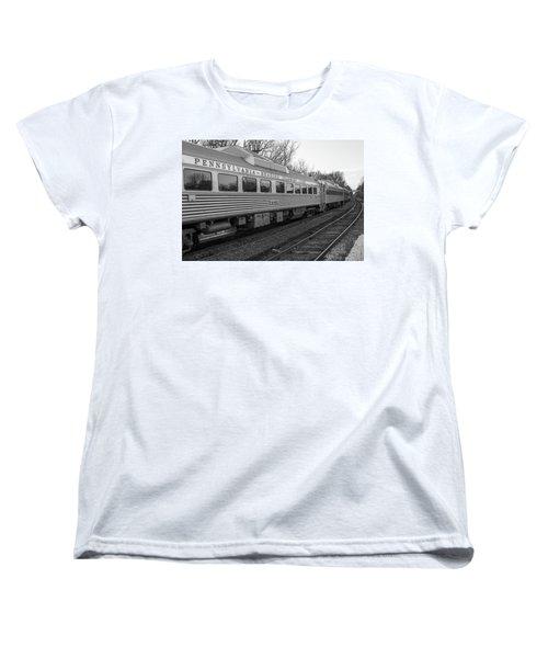 Pennsylvania Reading Seashore Lines Train Women's T-Shirt (Standard Cut) by Terry DeLuco