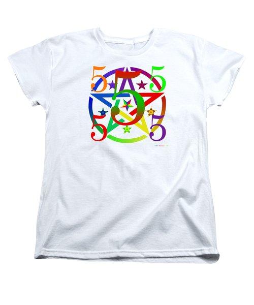 Penta Pentacle White Women's T-Shirt (Standard Cut)