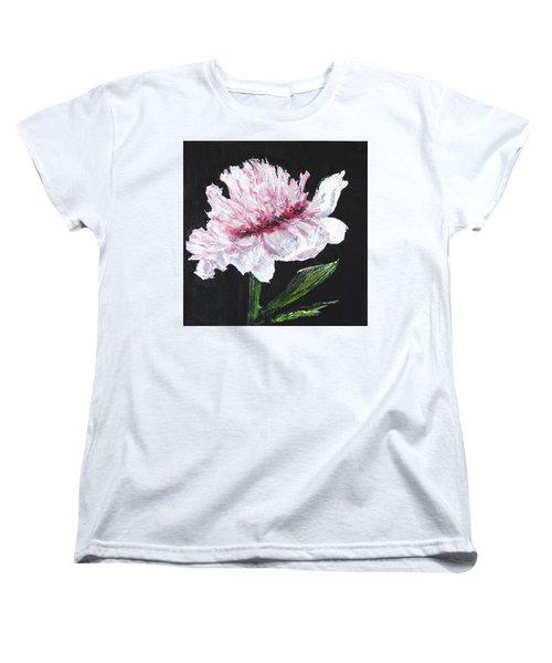Peony Bloom Women's T-Shirt (Standard Cut) by Betty-Anne McDonald