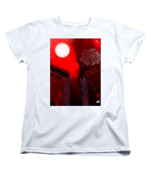 Perigee Moon 2 Women's T-Shirt (Standard Cut) by Yul Olaivar