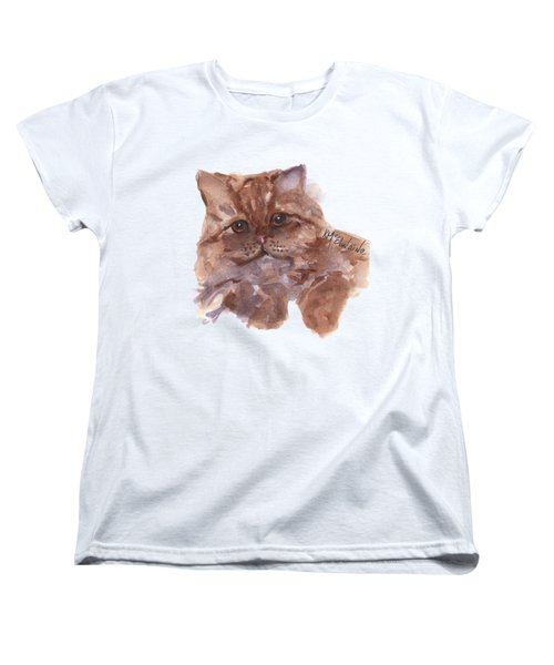 Persian Cat By Kmcelwaine Women's T-Shirt (Standard Cut) by Kathleen McElwaine