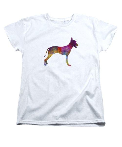 Peruvian Hairless Dog In Watercolor Women's T-Shirt (Standard Cut)