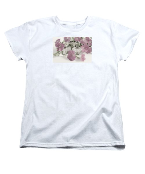 Petunias And Perfume - Soft Women's T-Shirt (Standard Cut) by Sandra Foster