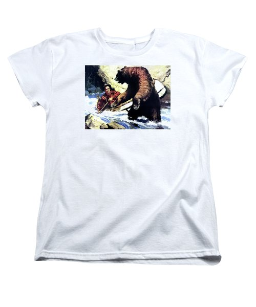 Women's T-Shirt (Standard Cut) featuring the painting Pg- Dangerous Waters by JQ Licensing