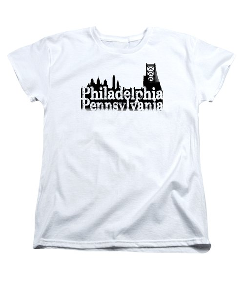 Philadelphia Pennsylvania Women's T-Shirt (Standard Cut) by Christopher Woods