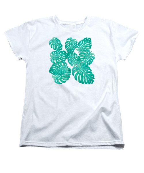 Philodendron Leaves Women's T-Shirt (Standard Cut) by Jan Matson