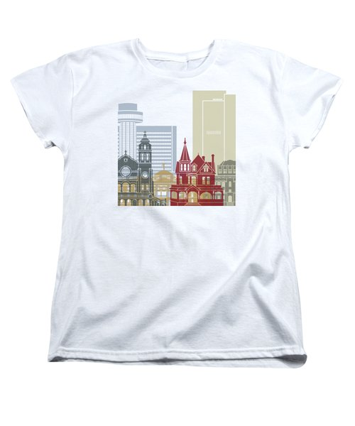 Phoenix Skyline Poster Women's T-Shirt (Standard Cut) by Pablo Romero