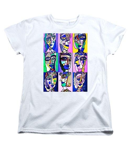 Picasso Blue Women Women's T-Shirt (Standard Cut) by Sandra Silberzweig
