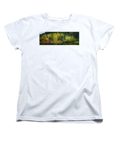 Women's T-Shirt (Standard Cut) featuring the photograph Picturesque Tumwater Canyon by Dan Mihai