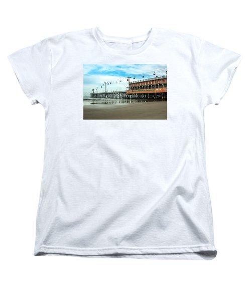 Women's T-Shirt (Standard Cut) featuring the photograph Pier Daytona Beach by Carolyn Marshall
