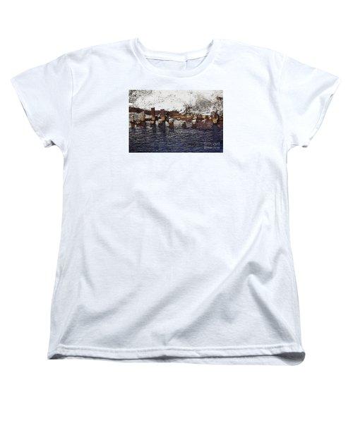 Pier Piles Women's T-Shirt (Standard Cut) by David Blank
