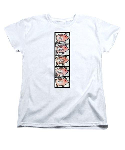 Women's T-Shirt (Standard Cut) featuring the photograph Pig Party by Joe Jake Pratt