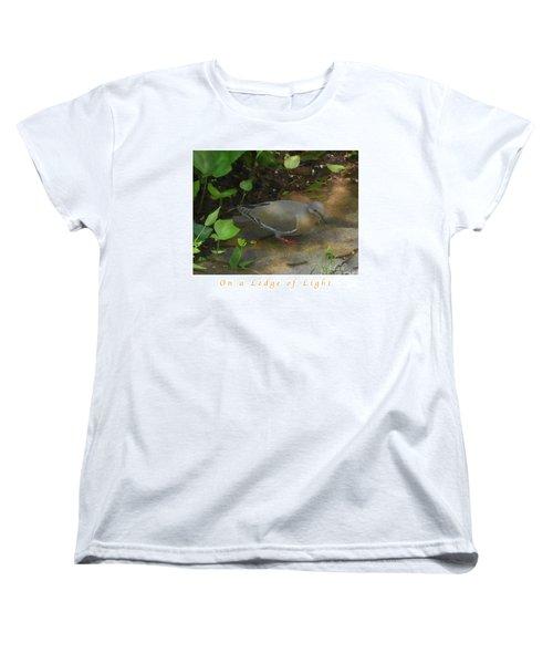 Pigeon Poster Women's T-Shirt (Standard Cut) by Felipe Adan Lerma