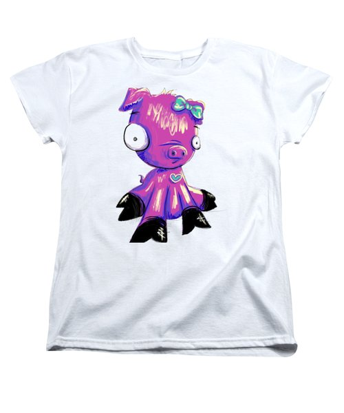 Piggy  Women's T-Shirt (Standard Cut) by Lizzy Love
