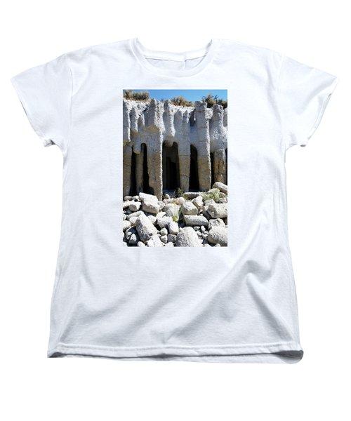 Pillars At Crowley Lake Women's T-Shirt (Standard Cut) by Michael Courtney
