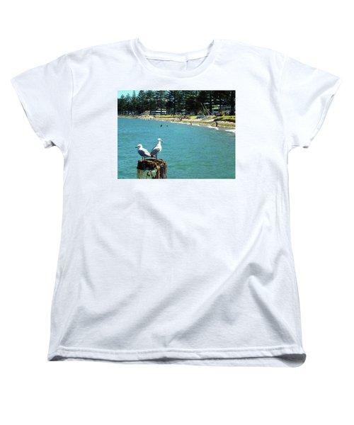 Pilot Bay Beach 4 - Mount Maunganui Tauranga New Zealand Women's T-Shirt (Standard Cut) by Selena Boron