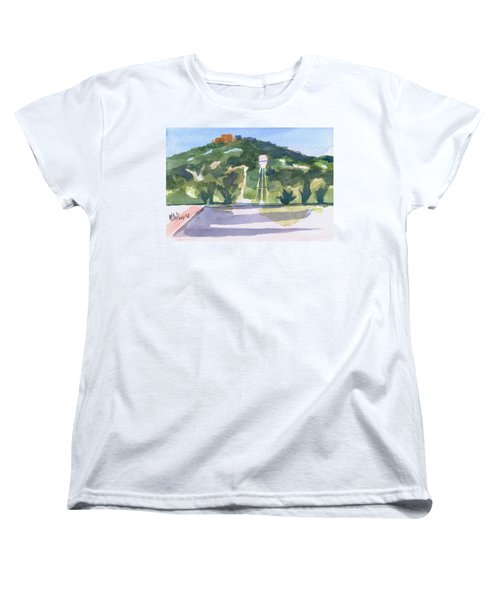 Women's T-Shirt (Standard Cut) featuring the painting Pilot Knob Mountain W404 by Kip DeVore