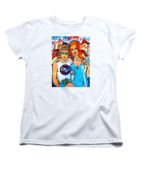 Pinball Wizard Women's T-Shirt (Standard Cut) by Colleen Kammerer