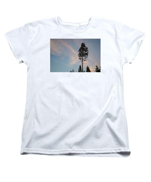 Pine Tree Silhouette Women's T-Shirt (Standard Cut) by Kennerth and Birgitta Kullman