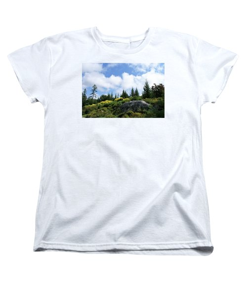 Women's T-Shirt (Standard Cut) featuring the photograph Pines At The Top by Lois Lepisto