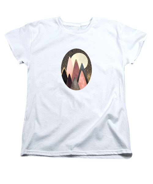 Pink And Gold Peaks Women's T-Shirt (Standard Fit)