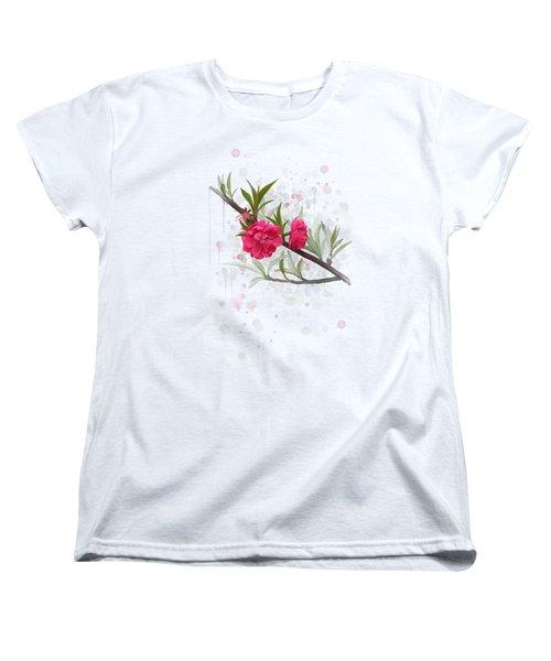 Hot Pink Blossom Women's T-Shirt (Standard Cut) by Ivana Westin