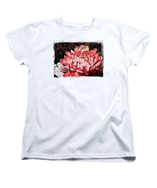 Women's T-Shirt (Standard Cut) featuring the photograph Pink Flower by Joan  Minchak