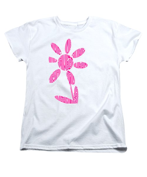 Pink Flower Women's T-Shirt (Standard Cut) by Kathleen Sartoris