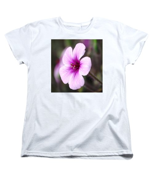 Women's T-Shirt (Standard Cut) featuring the photograph Pink Flower by Sumoflam Photography