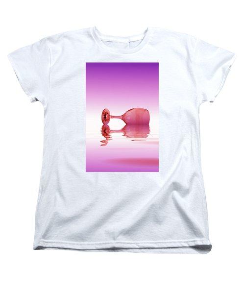 Pink Glass Women's T-Shirt (Standard Cut)