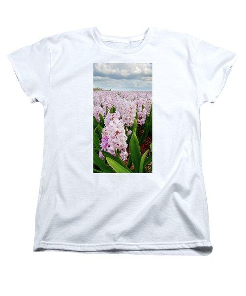 Pink Hyacinth  Women's T-Shirt (Standard Cut) by Mihaela Pater