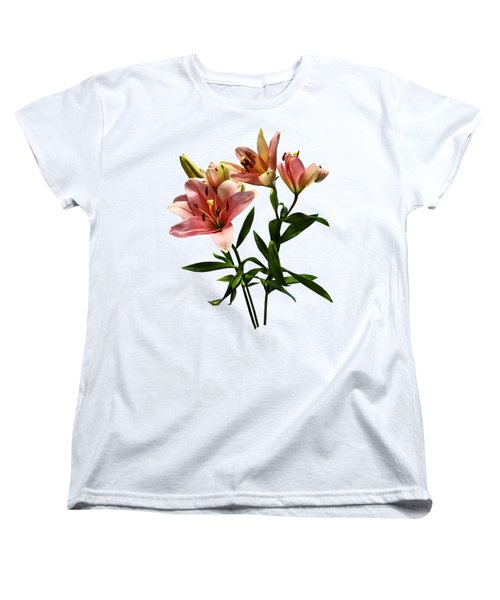 Pink Lily Trio Women's T-Shirt (Standard Cut)