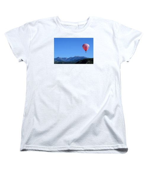 Women's T-Shirt (Standard Cut) featuring the photograph Pink On Blue by Kevin Munro