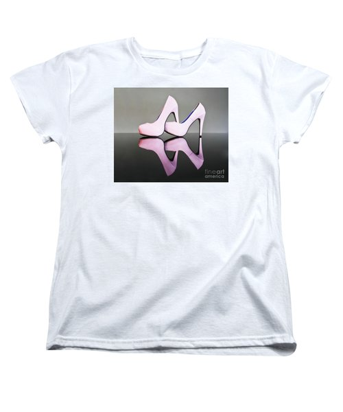 Women's T-Shirt (Standard Cut) featuring the photograph Pink Stiletto Shoes by Terri Waters