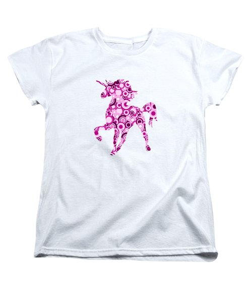 Pink Unicorn - Animal Art Women's T-Shirt (Standard Cut)