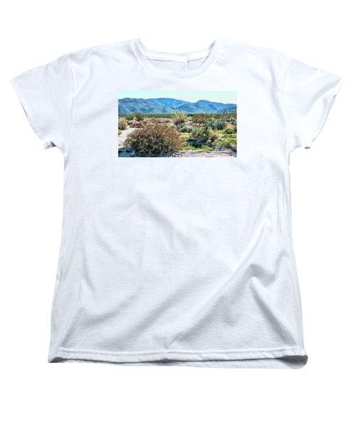 Pinyon Mtns Desert View Women's T-Shirt (Standard Cut) by Daniel Hebard