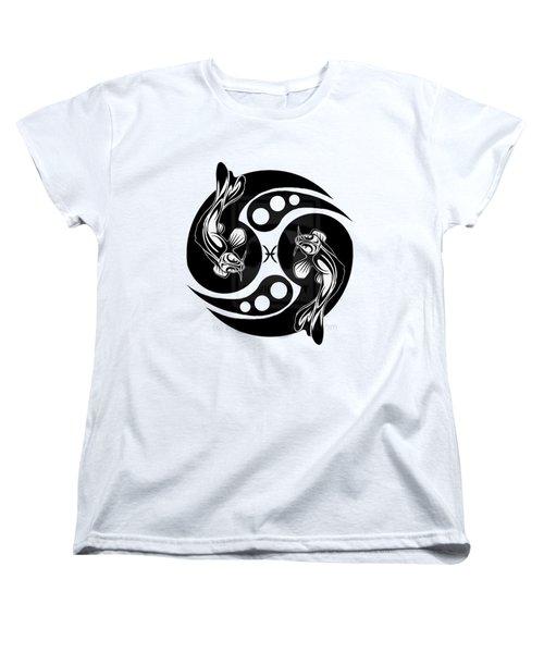 Pisces Koi Women's T-Shirt (Standard Cut) by  Fli Art