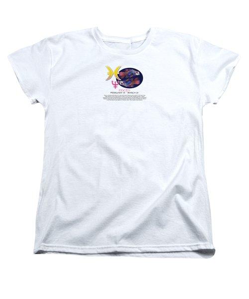 Pisces Sun Sign Women's T-Shirt (Standard Cut) by Shelley Overton