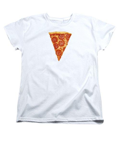 Pizza Slice Women's T-Shirt (Standard Cut) by Diane Diederich