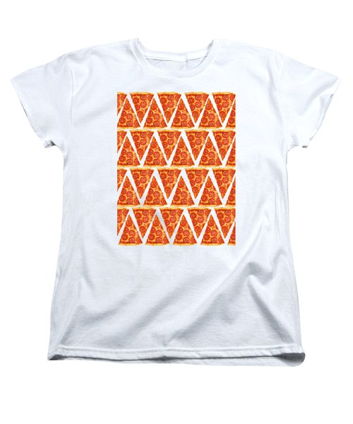Pizza Slices Women's T-Shirt (Standard Cut) by Diane Diederich