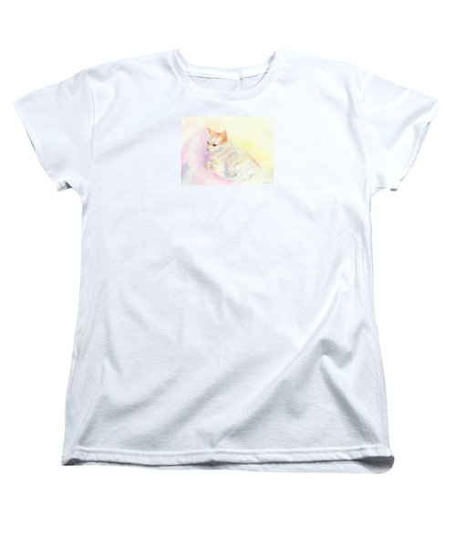 Women's T-Shirt (Standard Cut) featuring the painting Playful Cat IIi by Elizabeth Lock