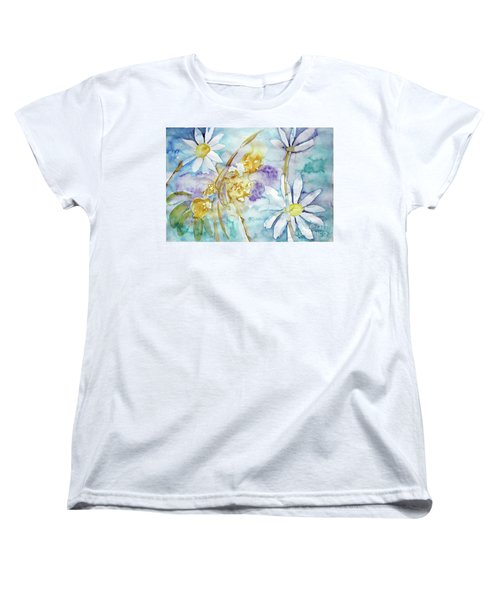 Women's T-Shirt (Standard Cut) featuring the painting Playfulness by Jasna Dragun