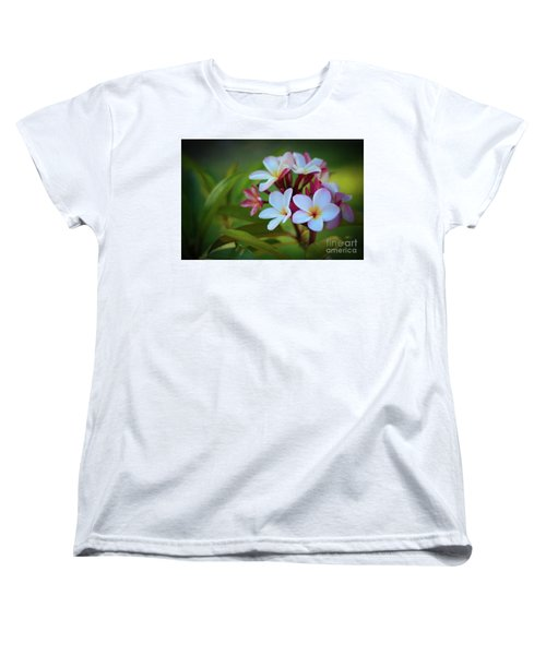 Women's T-Shirt (Standard Cut) featuring the photograph Plumeria Sunset by Kelly Wade