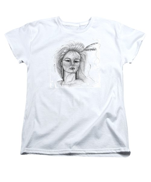 Pocahontas Women's T-Shirt (Standard Cut) by Mayhem Mediums