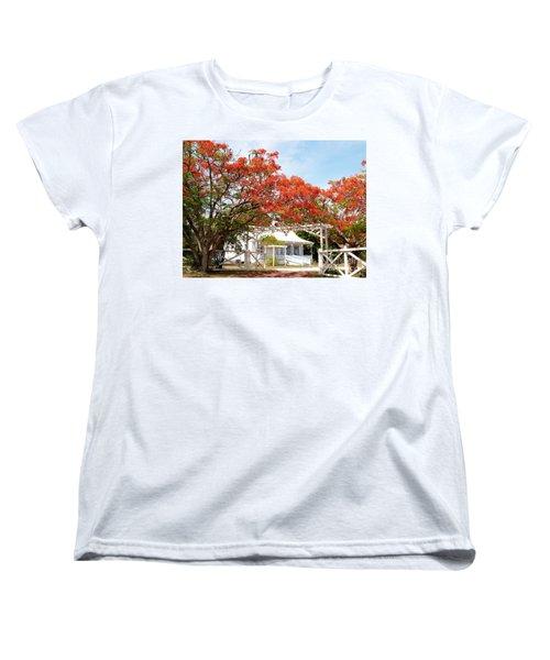 Poinciana Cottage Women's T-Shirt (Standard Cut)