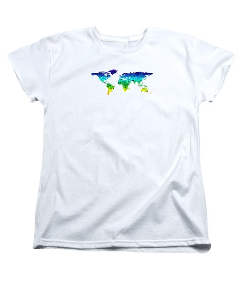 Point Map Women's T-Shirt (Standard Cut) by Roger Lighterness