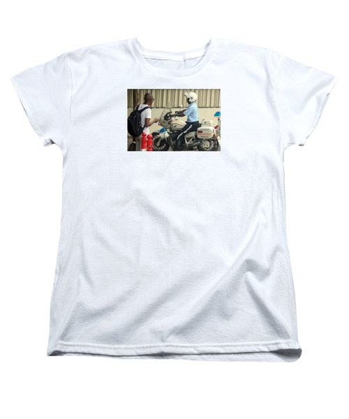 Police Escort Africa Women's T-Shirt (Standard Cut) by John Potts
