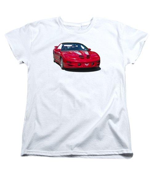 Pontiac Trans Am On Transparent Background Women's T-Shirt (Standard Cut) by Terri Waters