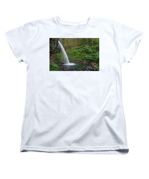 Women's T-Shirt (Standard Cut) featuring the photograph Ponytail Falls by Greg Nyquist
